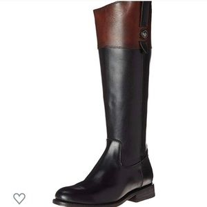 Frye Jayden Button boot in black and brown